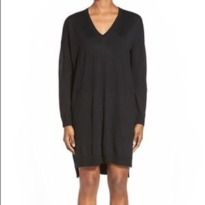 Eileen Fisher Merino Wool Vneck Dress